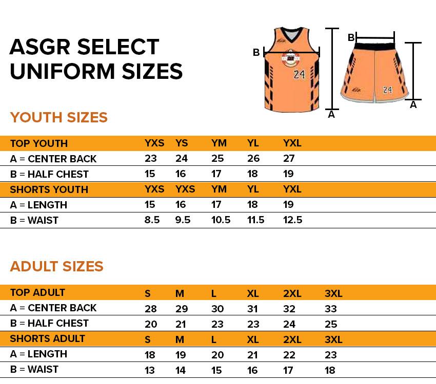 ASGR Select Uniform Sizes