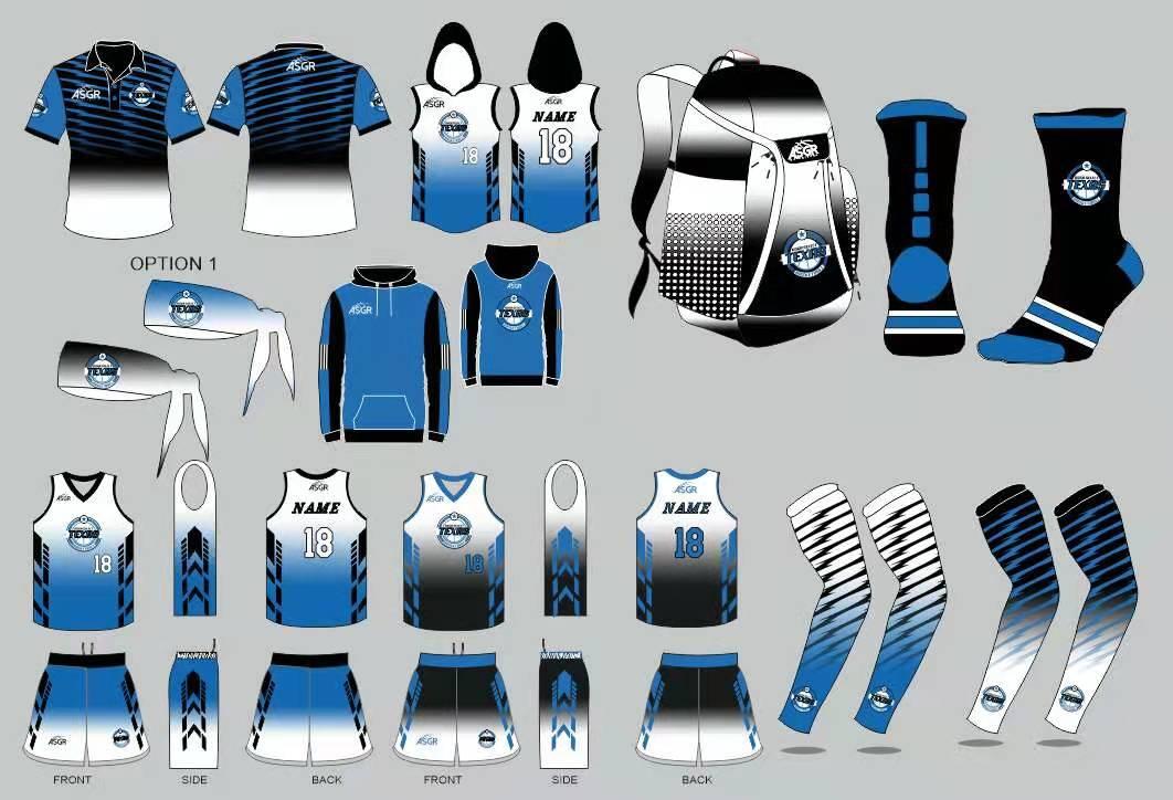 Team Uniforms Blue