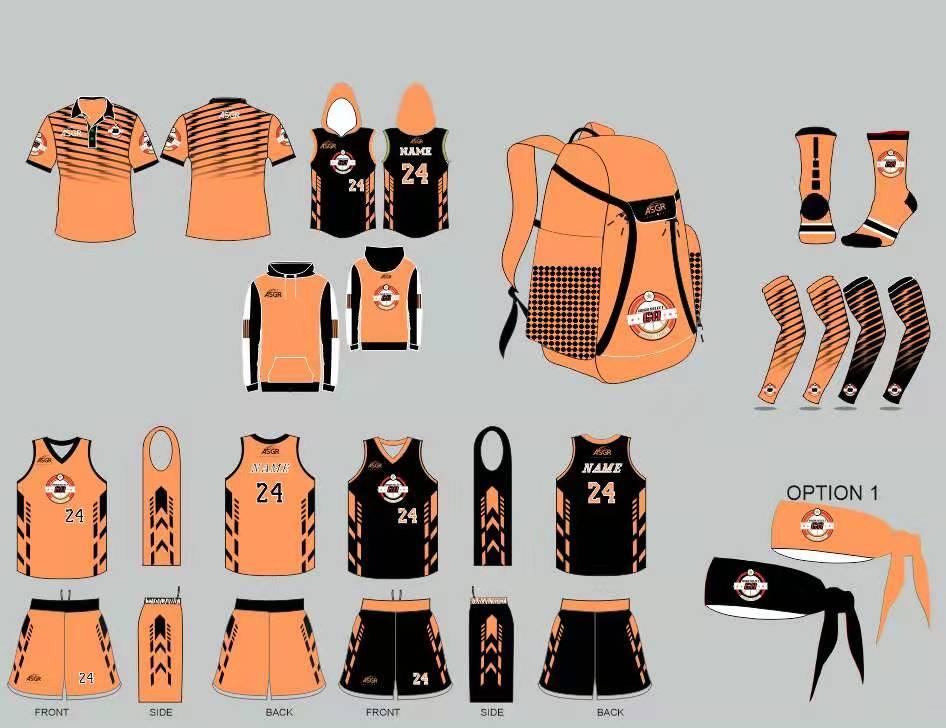 Team Uniforms Orange