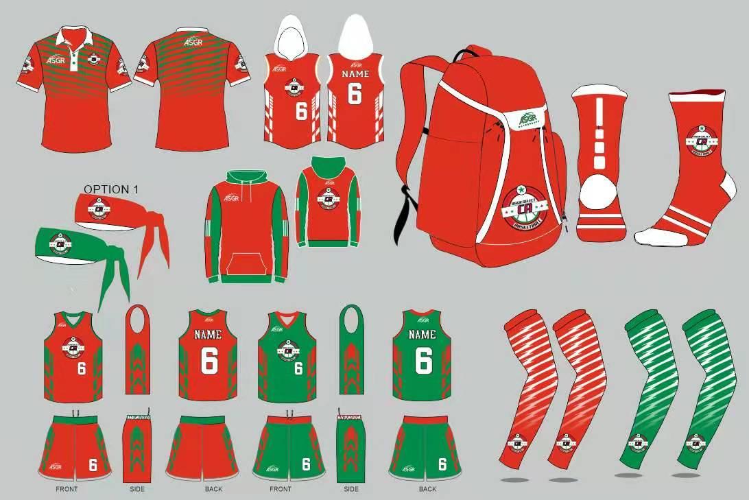 Team Uniforms Red